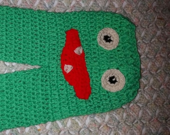 SALE--Ready to Ship--Green Monster Pants--Crochet Baby Pants