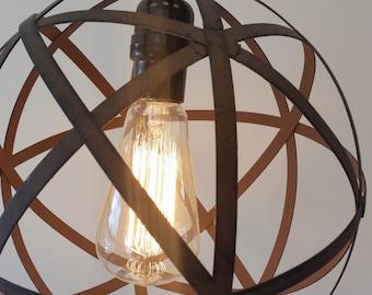 Industrial Orb Light, Modern Rustic Lighting