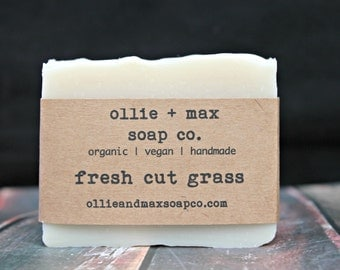 Fresh Cut Grass Soap, Vegan Soap, Organic Soap, Natural Soap