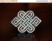 THANKSGIVING SALE Indian Wood Stamps, Batik Stamps, Tjaps, Wood Block Stamps, Textile Stamps, Pottery Stamps- Eternal Knot
