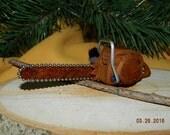 Mini Chainsaw Cottonwood Bark Wood Carving Christmas Tree Ornament Power Tools Chainsaws Handmade Ornaments Tree Trimming Cutting Logging