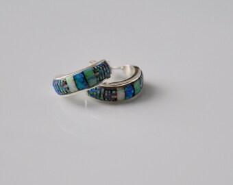 Native American Inlay Earrings Artist BT