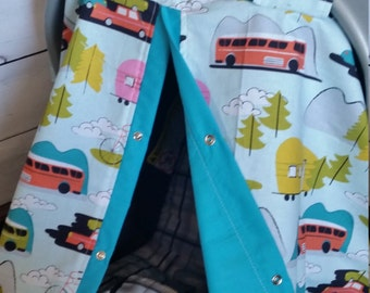 Carseat Canopy On The Vacation Cover
