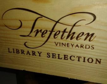 Frefethen / Wine Crate/ Napa Valley / Wedding Display / Wedding Decor/Wedding Card Holder/ Magazine Holder