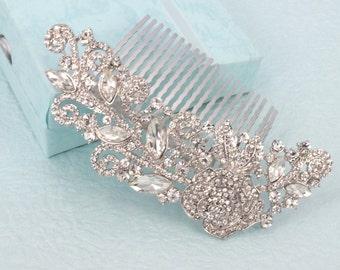 Amy-Vintage style Rhinestone Crystals Wedding  Comb