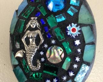 Mosaic rock with Mermaid