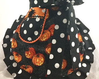 Ready to ship Halloween Apron Pumpkin Apron Jack o Lanterns