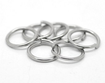 7mm Jump Rings : 100 Antique Silver Jump Rings 7mm x 1.2mm Open Jump Rings 18 Gauge -- Lead, Nickel & Cadmium free 7/1.2