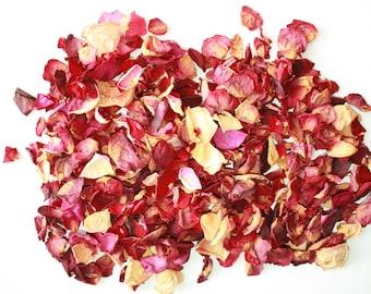 ROSE PETALS 1 oz = 9 cups = 30 grams pretty hand dried petals
