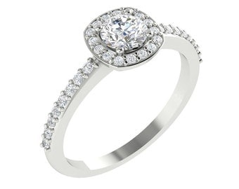 reserved laurenelisalg, payments,  Forever One Moissanite and Diamond Halo Engagement  Ring In  14K White Gold Eng464
