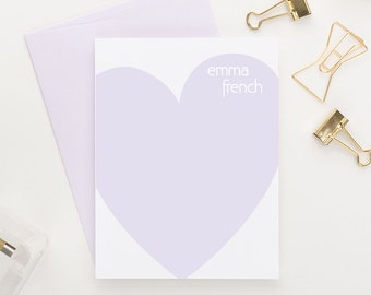 Personalized Heart stationery, Custom stationery for kids, Personalized stationery, Personalized Stationary, Set of 10, PS022