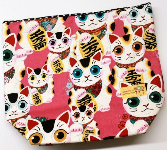 Big Bottom Indochine Fuku Kitty Lucky Cat Cross Stitch