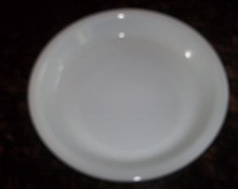 "9"" White Milk Glass Pyrex Pie Plate #209"