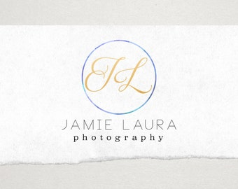 Premade Logo // Logo Design // Business Logo //  Photography Logo // Watercolor Logo // Modern Circle Logo