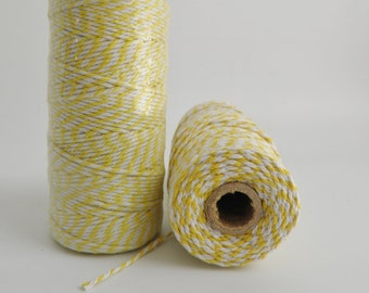 YELLOW Thick Bakers Twine (12 ply)- 100 yd spool- Packaging, Gift Wrap, Baking Parties