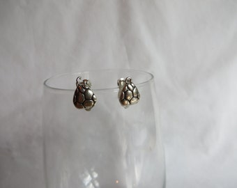 Vintage Clip On Silver Earrings