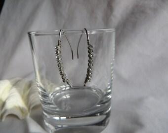 Silver CZ Earrings, Earrings, Silver, Cubic Zirconia