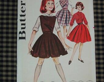 Vintage Pattern c.1950's Butterick No.9837 Jumper,Skirt,Blouse Size Subteen 12 Uncut