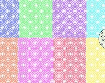 Digital download--Printable pastel tile JPG files for cake decorating, scrapbooking  paper, printed wafer paper