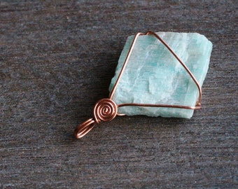 Amazonite Copper Pendant #5672