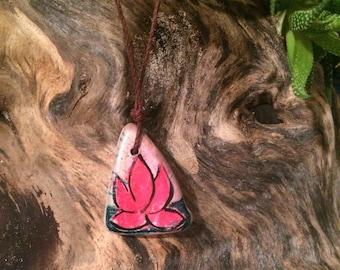 Lovely Lotus Blossom Pottery Shard Necklace