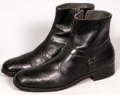 Black Beatle Boots Men's Size 11 .5 C