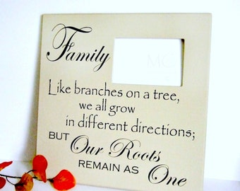 Family Photo Frame - Family Roots Remain as One - Family Picture Frames - Family Frames - Family Picture Frame - Branches on a Tree Frame