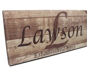 LAST NAME SIGN-Personalized family name sign-custom name sign-Established name sign-rustic signs-farmhouse decor