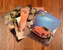vintage 80s binder folder trapper keeper exotic cars Lamborghini Coutach Ferrari F40 Testarossa Porsche 959 Plymouth 1989 school supply
