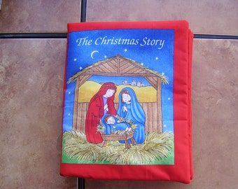 The Christmas Story Birth of Baby Jesus Soft Cloth Baby Toddler Story Book Handmade Ready to Read