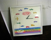 Vintage Dupont Wall Clock- Automotive Paints- Automotive Advertising -Du Pont Worldwide Finishes