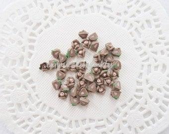16pcs - Tiny Ceramic Alice Tea Time Cocoa Rose Decoden Cabochon (5mm) FL10018