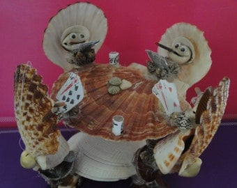 Sea Shell Seashell Poker Players Figurine
