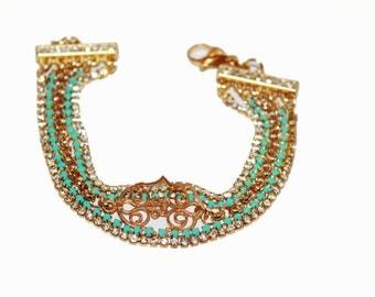 Hamsa bracelet, Gold hamsa bracelet, evil eye bracelet, hamsa charm bracelet, bad eye charm, bad eye charm bracelet