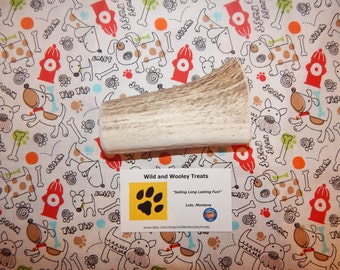 "Organic Large Elk Antler Dog Chew ""Made in Montana"" (Lot G28)"