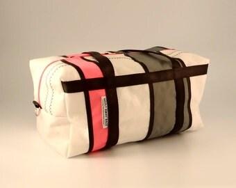 SMALL Duffle Bag, Travel Duffle, Sailcloth Duffle, Ultralight Luggage, Weekend Bag, Overnight Bag, Sail Bag, White Bag, Gray Bag, Pink Bag