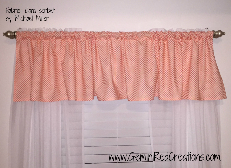 Custom valance curtain window treatment for Designer valances window treatments