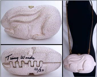 Timmy Woods Handbag// Rabbit//Artist Signed//Numbered//Bunny//Never Used With Tags