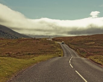 "Travel photography, large photography. England art print - ""The Open Road"""