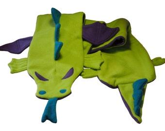 Green Dragon Fleece Scarf
