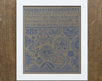 Quaker Sampler: Peace to my Friend - Instant Download PDF Cross Stitch Embroidery Pattern Booklet