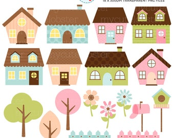 small house clipart cute. cute houses clipart set clip art of little trees fences small house c