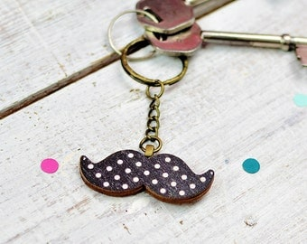 Moustache Keyring | Gifts For Men | Housewarming Gift