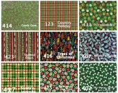 Christmas Fabrics Selections for Collars, Harness and Leashes