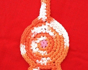 Crochet Cotton orange tabby Cat Butt Coaster Cat Lady Humor kitty clowder