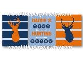 Deer Nursery Art Set of 3, Baby Boy Hunter art, Deer Nursery Decor, Woodland Art , Hunting Art for Kids, Hunting Nursery Art