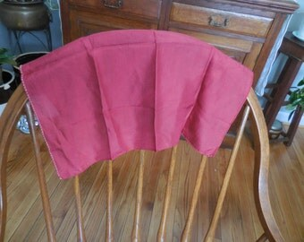 Vintage Maroon/Red/Burgundy Silk Handkerchief Hanky Thin 1950s to 1960s Scarf