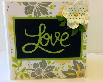 Love scrapbook Premade Pages  mini album love scrapbook 5x5