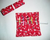 Valentine Hearts Birthday Party Favors, Crayon Roll Up, Valentine Hearts