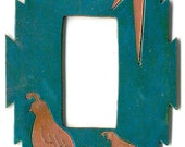 "CopperCutts Quail Family 4.25"" x 6"" Single Rocker Switch Plate"